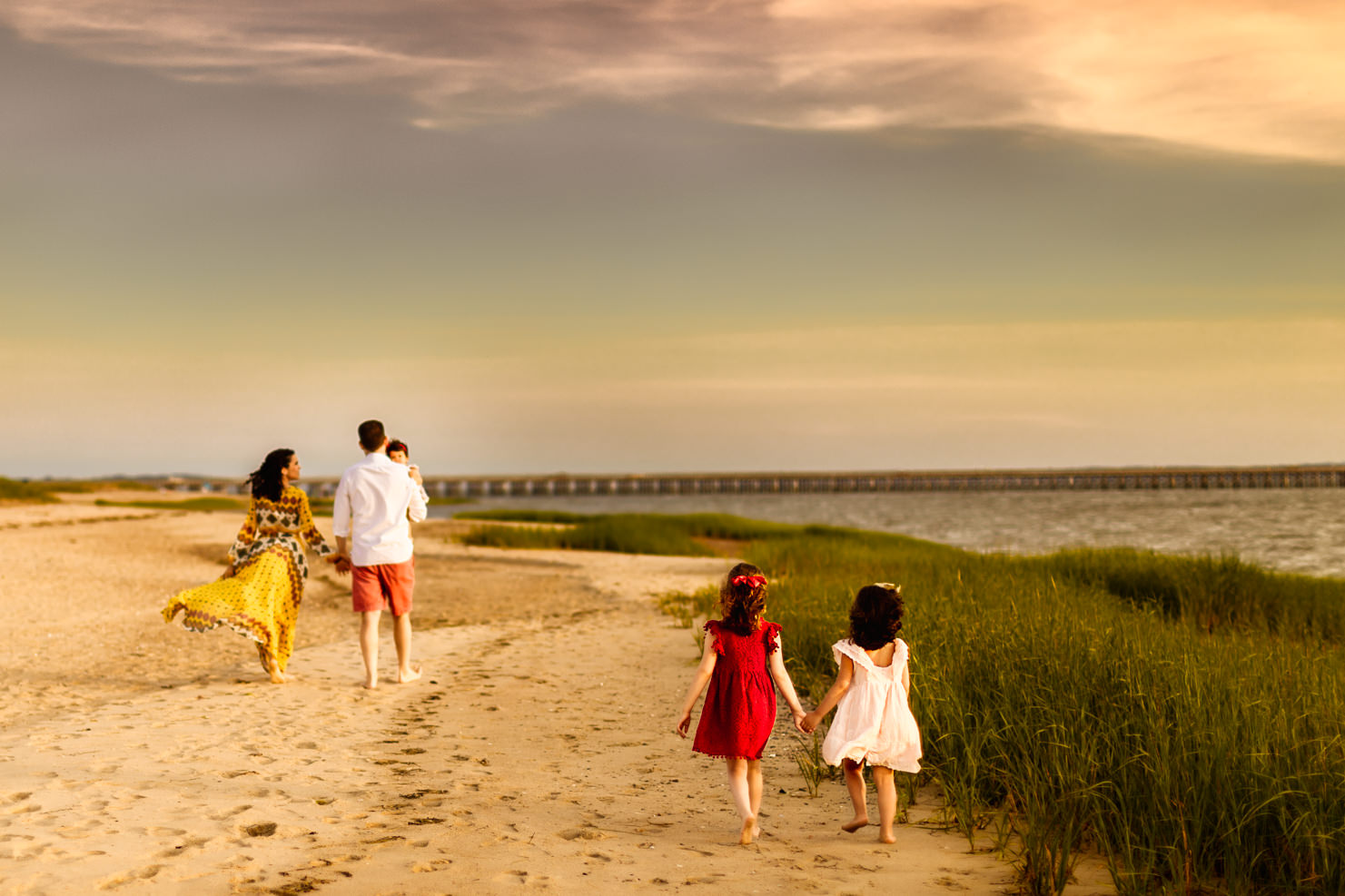 Boston Beach Family Session - Fine Art -19