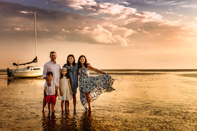 Cape Cod Beach Family Photo Session -19-1