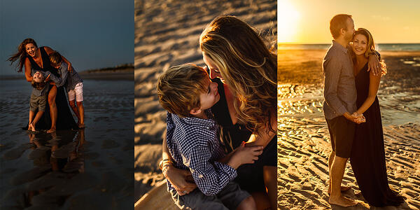Cape Cod Beach Family photo collage