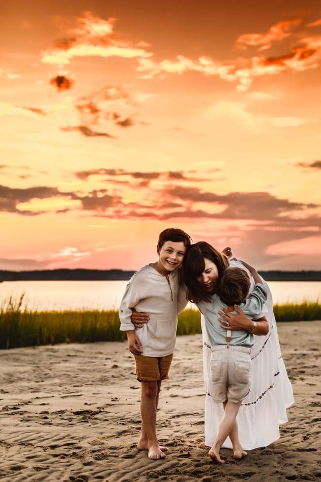 Duxbury Beach Family Photo Session -10