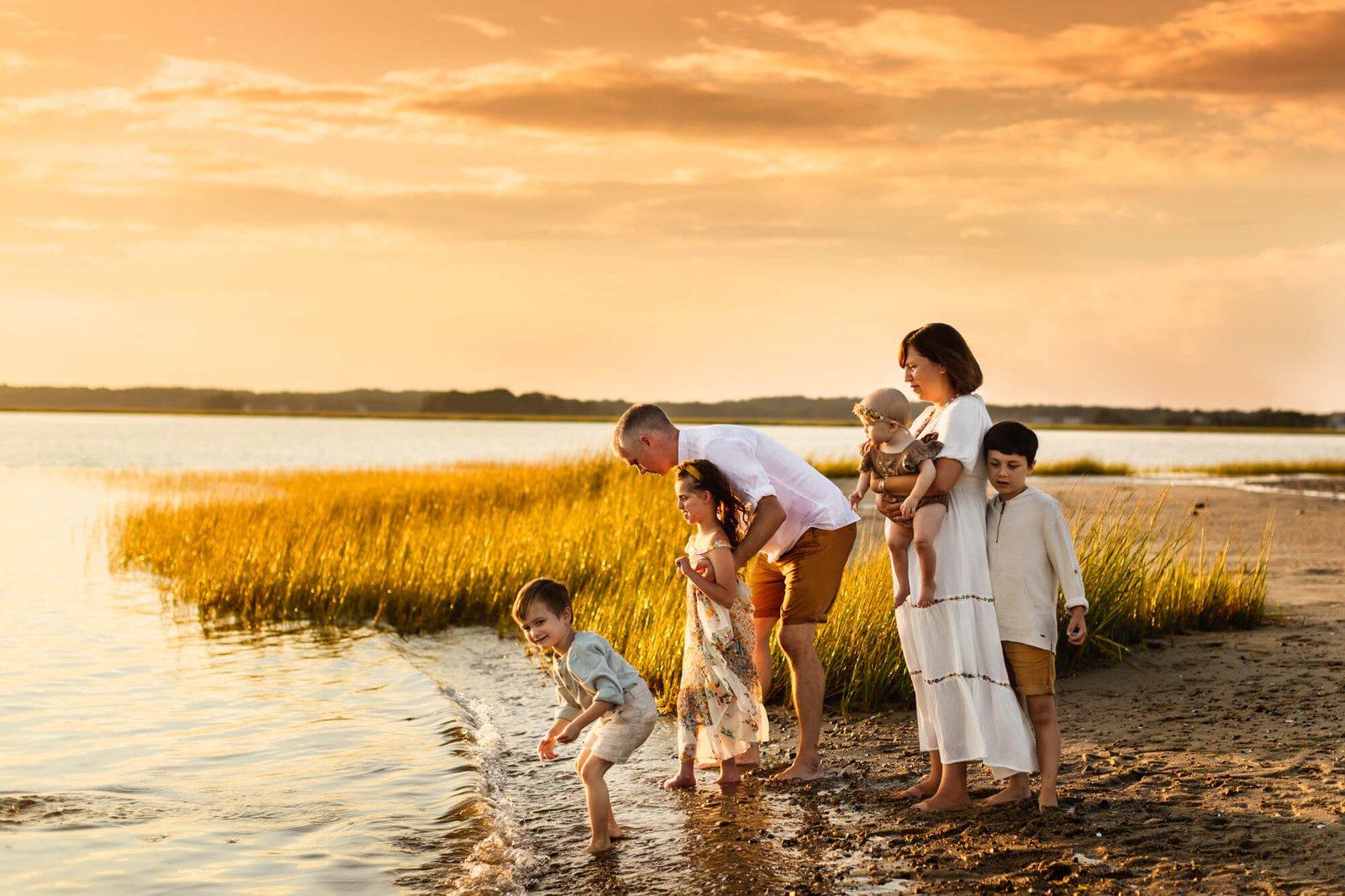 Duxbury Beach Family Photo Session -6
