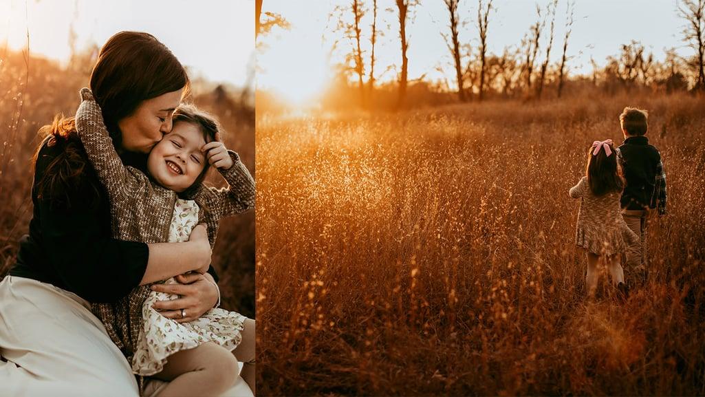 Fall boston family photo collage 2