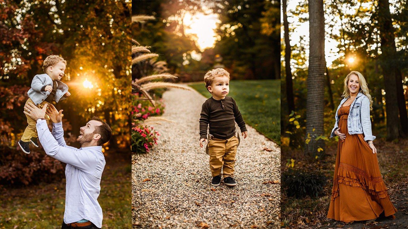 Fall boston family photo collage