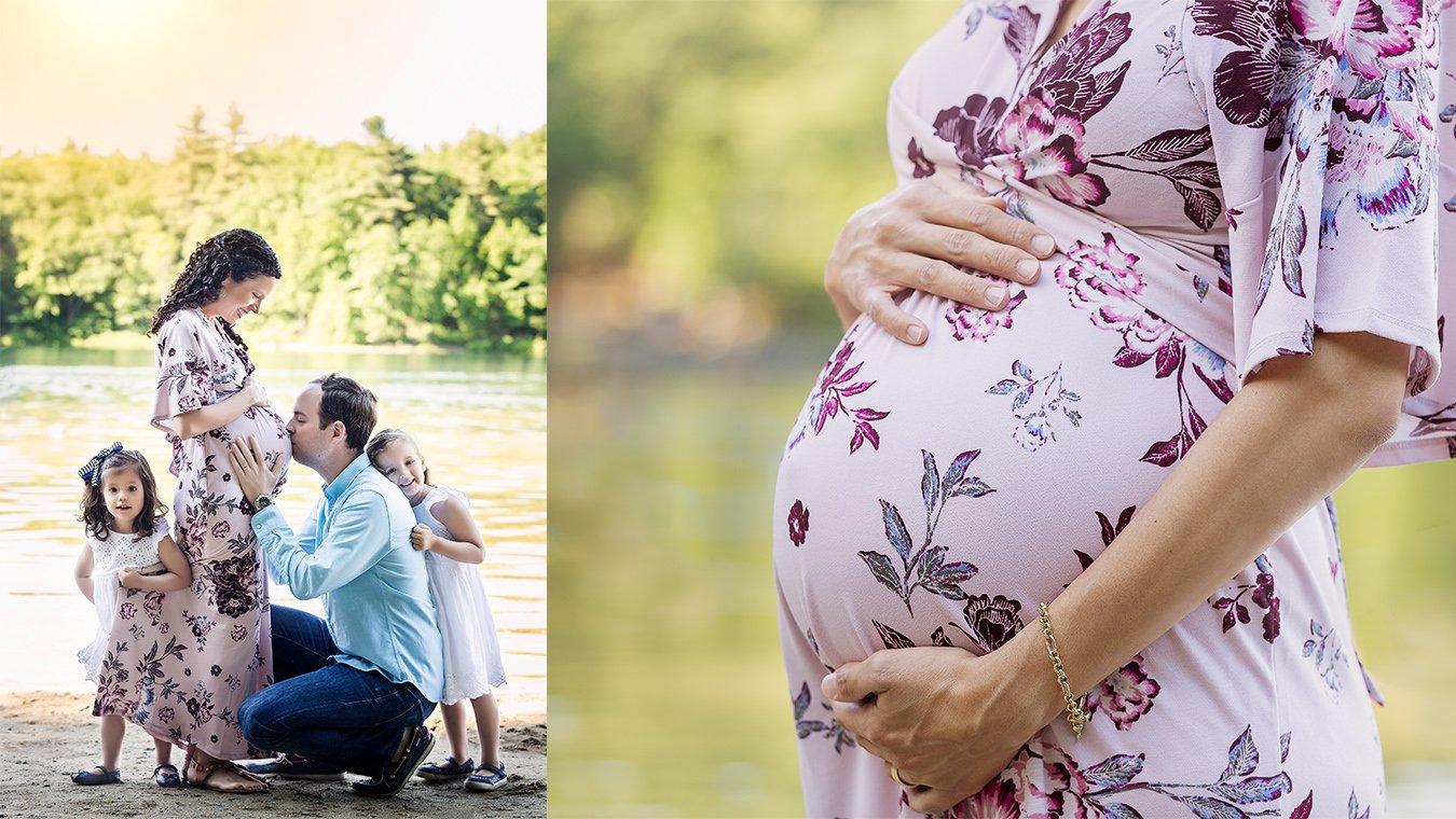 Lake Summer Pregnancy Maternity Boston