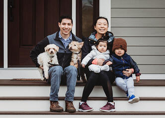 Love in Covid19 times - front door family portrait - Andre Toro Photography-103
