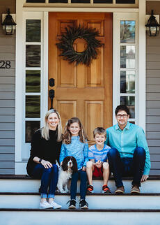Love in Covid19 times - front door family portrait - Andre Toro Photography-27