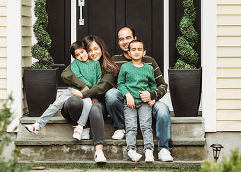 Love in Covid19 times - front door family portrait - Andre Toro Photography-84