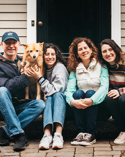 Love in Covid19 times - front door family portrait - Andre Toro Photography