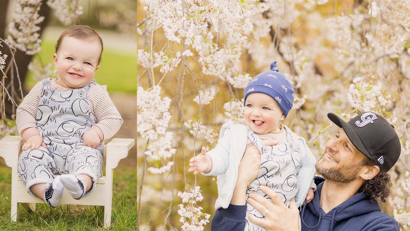 Spring boston family photo collage