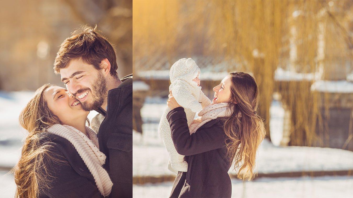 Winter Collage Boston Family Photographer